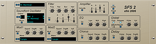 EFM SF Synth 2 : A free VSTi plugin, on Windows