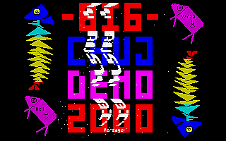 Screenshot of Big Chuj Demo, on ZX Spectrum